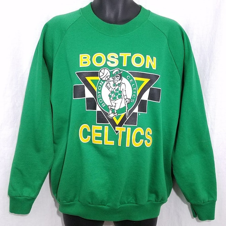 wholesale dealer 62e36 e1c99 Boston Celtics Sweatshirt Vintage 80s Basketball Made In USA Deadstock Mens  Size XL