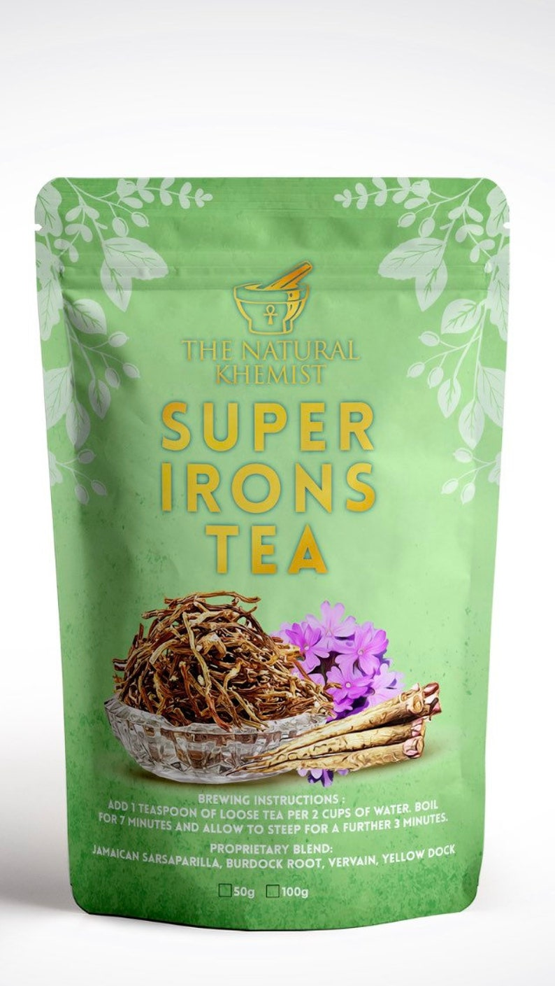Dr Sebi inspired iron rich tea with Sarsaparilla, Yellow dock