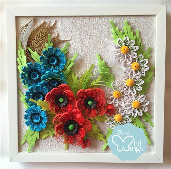 Miniwings Paper Art Quilling Wall Art Modern Home Decoration Etsy