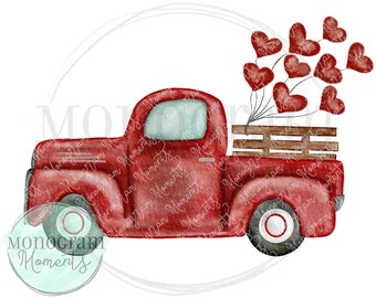 Truck With Hearts Etsy