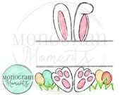 Watercolor Easter PNG - Outlined Easter Bunny Clipart for Digital Download, Sublimation, and Printables