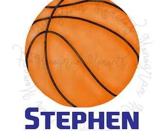 picture relating to Printable Basketball named Basketball printable Etsy