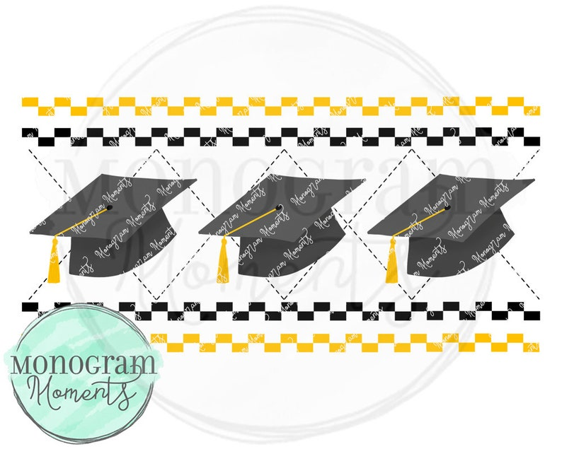 Faux Smocking Graduation PNG - Graduation Caps for Digital Download,  Sublimation, and Printables