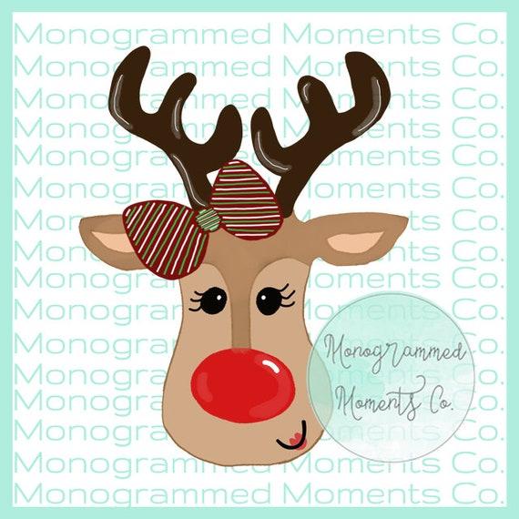 Christmas Reindeer Png.Christmas Reindeer Watercolor Clipart Girl Reindeer Png Digital Download Printable Artwork Design Toddler Designs