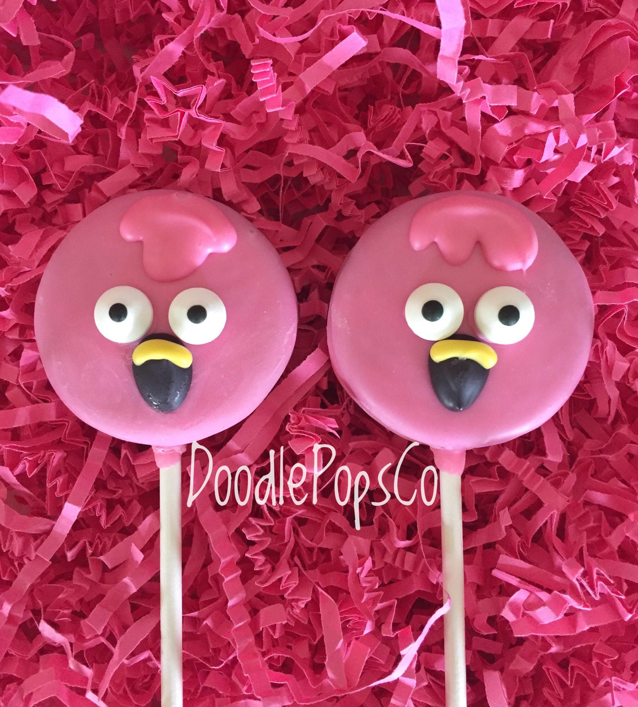 Pink flamingos Oreo cookie pops / flamingo party favor / baby | Etsy