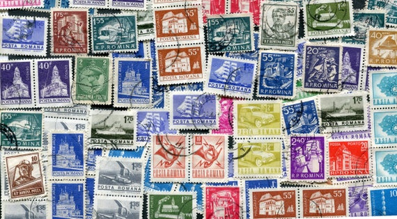 romania stamps various bulk used stamps vintage stamps etsy