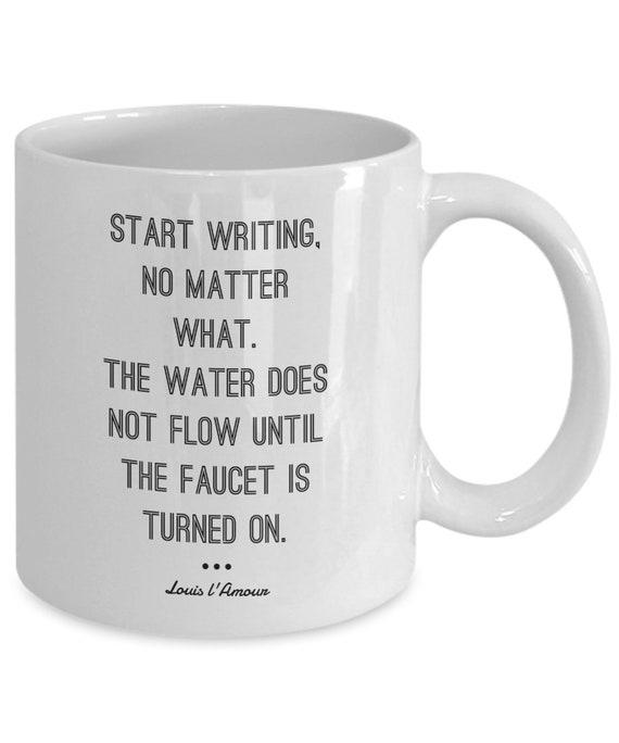 louis l amour writer quote coffee mug gift birthday