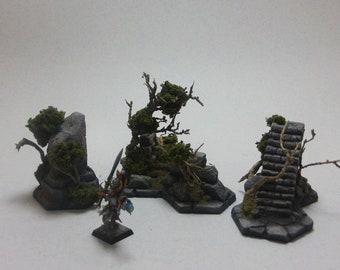 Shadespire Hex Terrain, resin casting