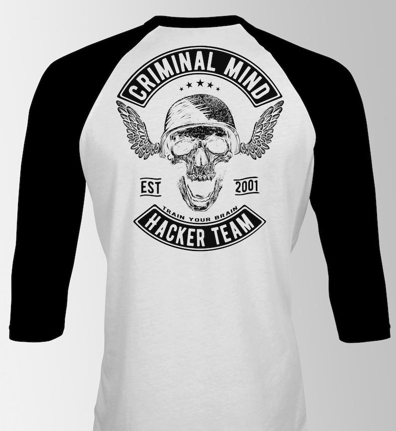 Skull Team Mind Criminal Hacker ShirtEtsy T ZOXPikTu