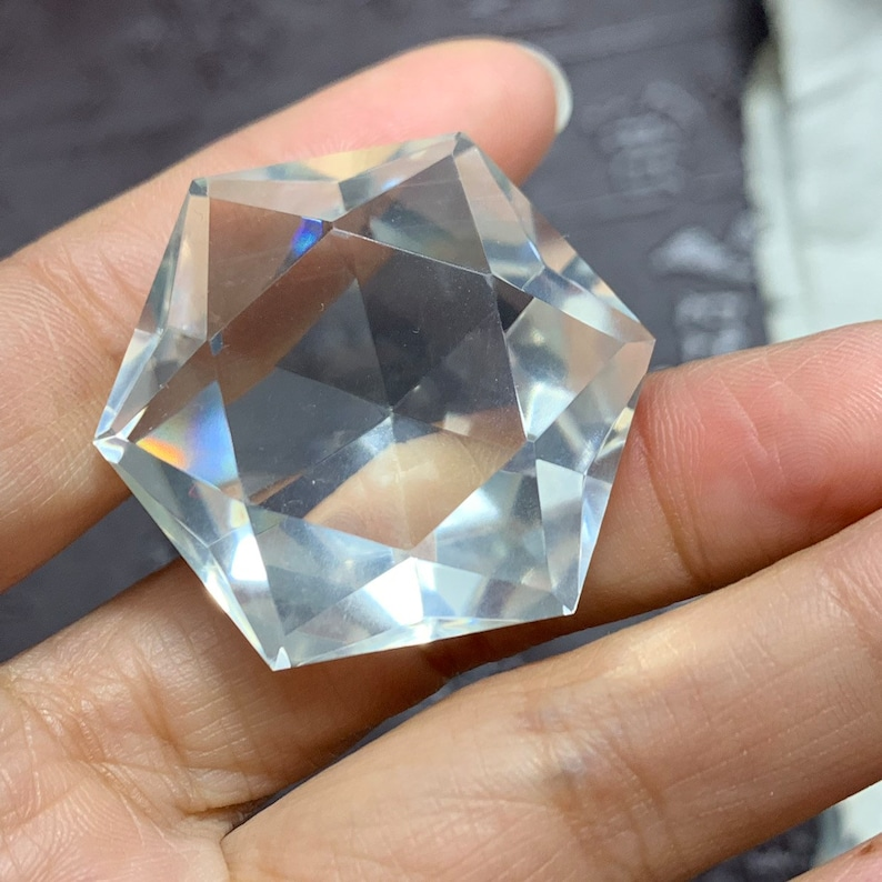 Wholesale!100pcs Natural clear Quartz Crystal 3D Hexagon Star of David /& flower of life pendant crystal healing