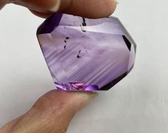 natural ametrine quartz crystal with goethite inside free form pendant -81