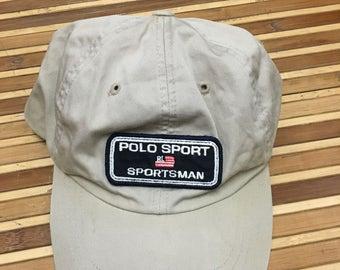 Vintage 90s POLO Ralph Lauren Sportsman Cap 56a90f49d8ff