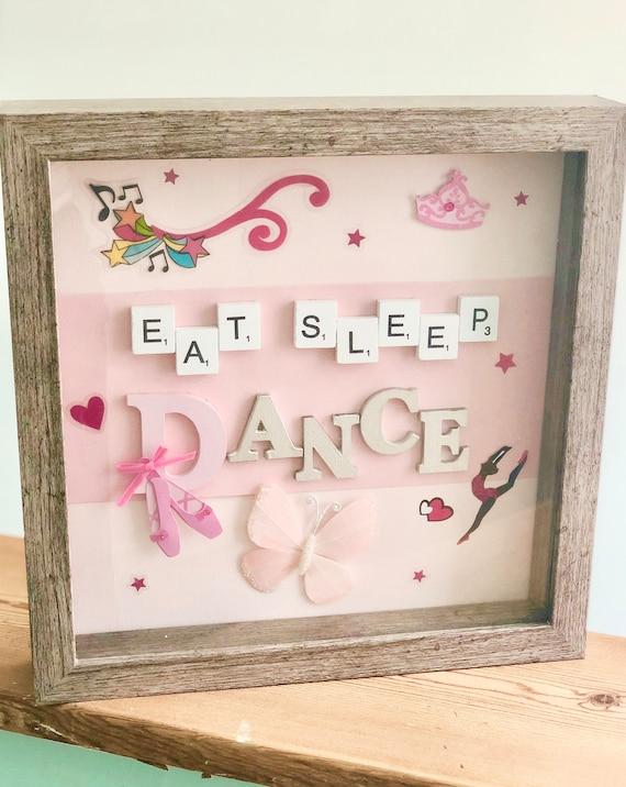 Handmade Eat Sleep Dance Shadow Box Picture Dance Recital Gifts Dance Gifts Dance Pictures Dance Frames Dance Decor 9x9 Inch Frame