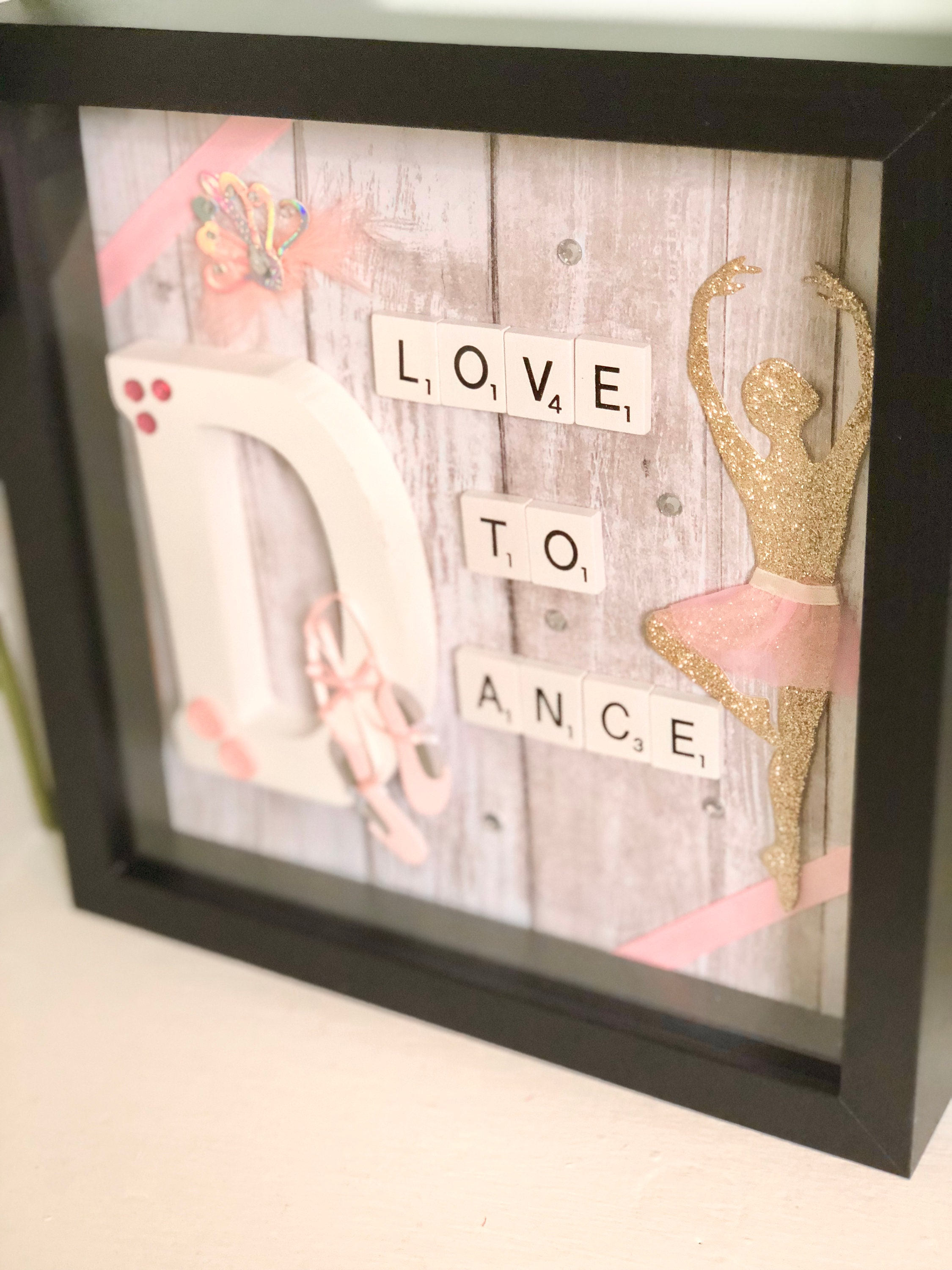 Handmade Made To Order Love To Dance Shadow Box Picture