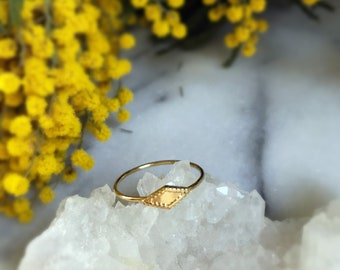 Gold plated brass ring Prohibition