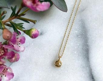 Golden Brass Necklace The Marnie