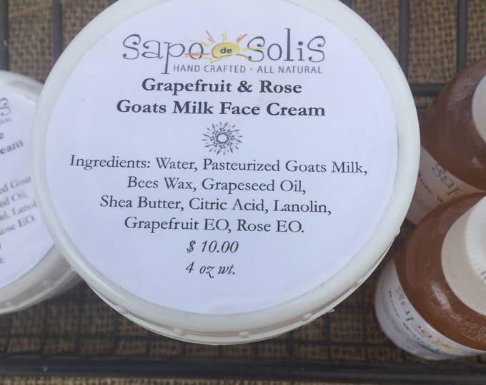 Goats milk all natural daily facial cream
