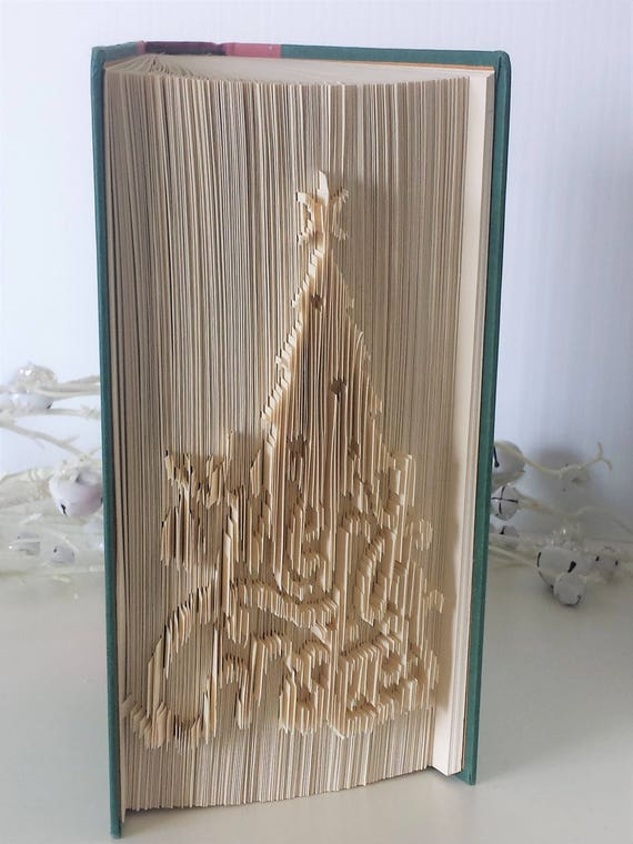 Christmas Tree Merry Christmas Folded Book Christmas Book Etsy