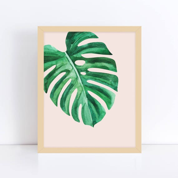 Palm Leaves Print Tropical Art Palm Leaf Art Print Etsy Tropical wall art and canvas prints by artist kerri shipp for driftwood interiors. palm leaves print tropical art palm leaf art print relaxation wall art green leaf print yoga wall art pink and green printable art