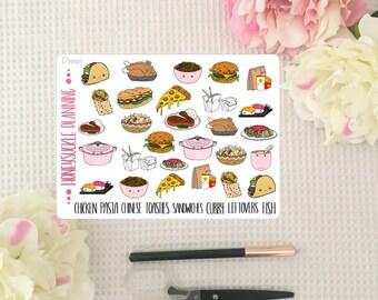 Dinner Planner Stickers