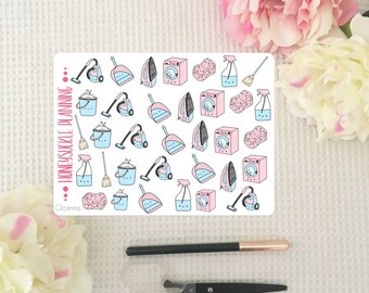 Cleaning Planner Stickers