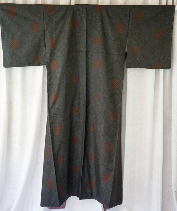 Men Kimono jacket Japanese wall decor oshima tsumugi silk collector textile