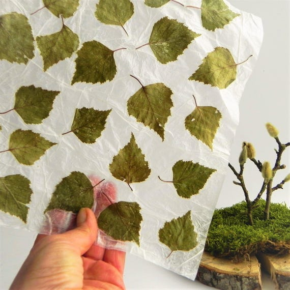 Handmade Leaf Paper Sheets Unique Gift Wrapping Idea Diy For Etsy