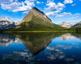 Reflect: Glacier National Park Lake Reflection Sky Landscape Nature Photography Print Wall Art