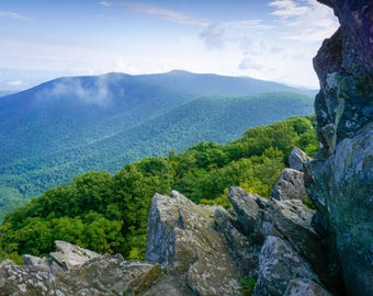 Upper Hawksbill: Shenandoah National Park Nature Mountain Landscape Photography Print Wall Art
