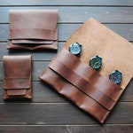 Leather watch case, Travel accessories, Pouch watch, Watch storage, Personalized gift