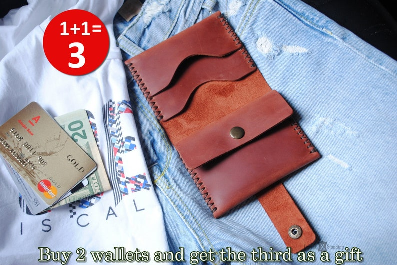 Small leather wallet woman Wallet for girls Small wallet for image 0