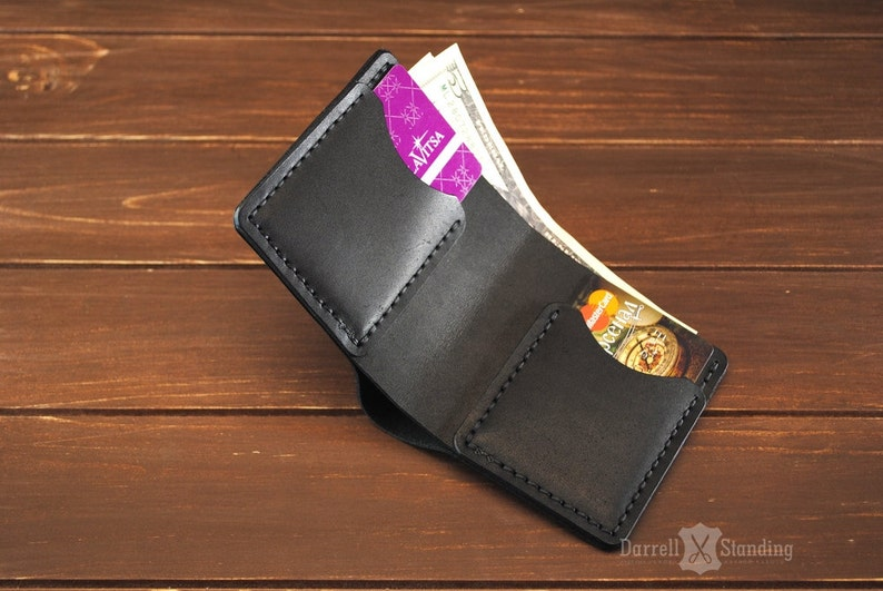 Minimalist wallet Small leather wallet Slim wallet Gift for image 0