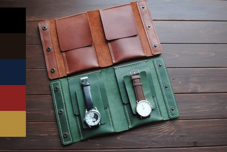 Leather watch case Travel accessories Pouch watch Watch image 0