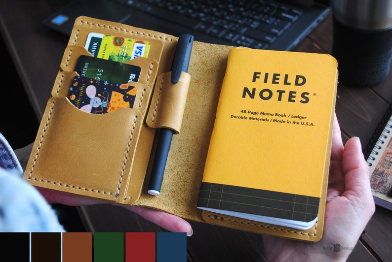 Field notes cover  pocket size with pen holder 3.5 x image 0