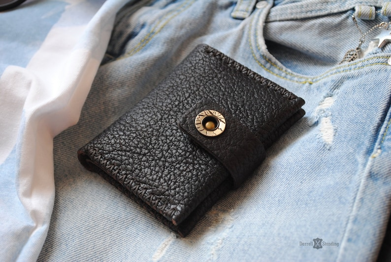 Small leather wallet for womens Cute wallets Ladies wallet image 0