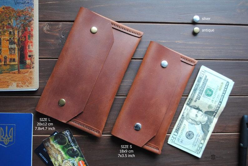 Cash Envelope wallet Leather envelope money organizer image 0