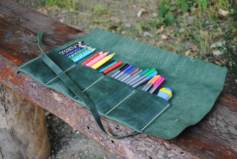 Leather pencil roll image 0