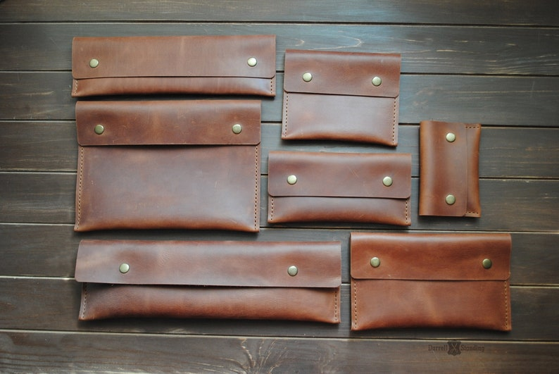 Leather envelope case for: tools passport documents image 0