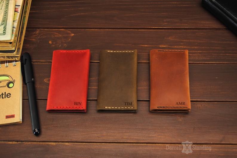 Personalized leather card holder / Сard holder for men / Сard image 0