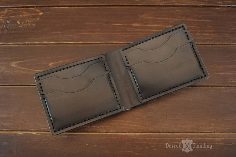Mens leather wallet Money wallet Small wallet for men's image 0