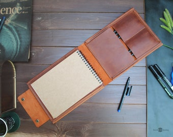 Leather cover for writing pads, cover for paper pad, teacher pad