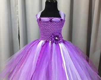Purple, Lavender and White Princess Dress for Girls - Princess Tutu Dress for Toddlers - Tutus for Baby - Birthday Dress - Princess Dress Up