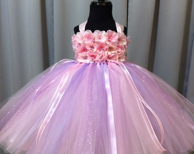 a574d4e2f61 Pink   lavender flower girl dress