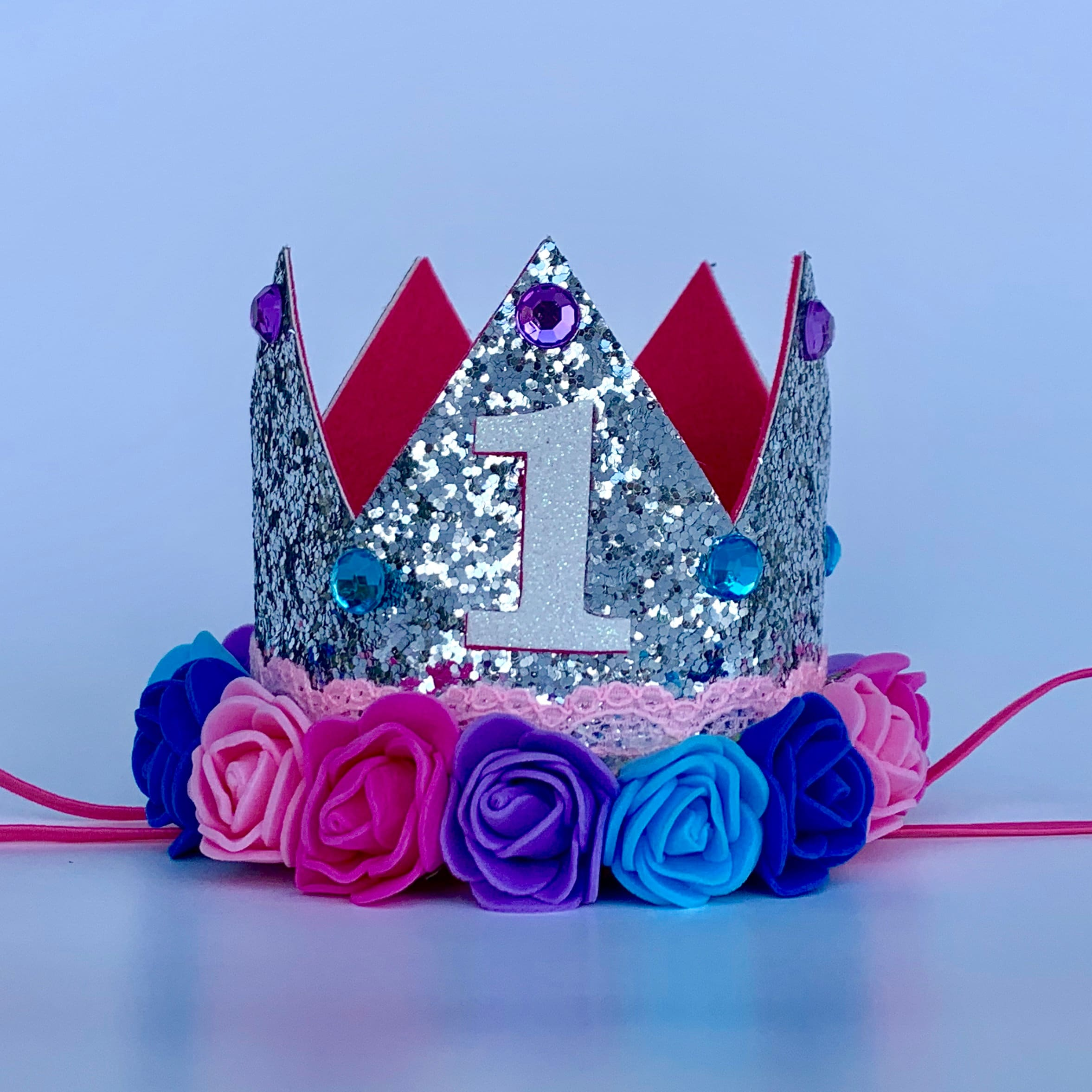 New Happy Birthday Tiara Crown Headband Girl/'s Fuchsia Headwear Birthday Party