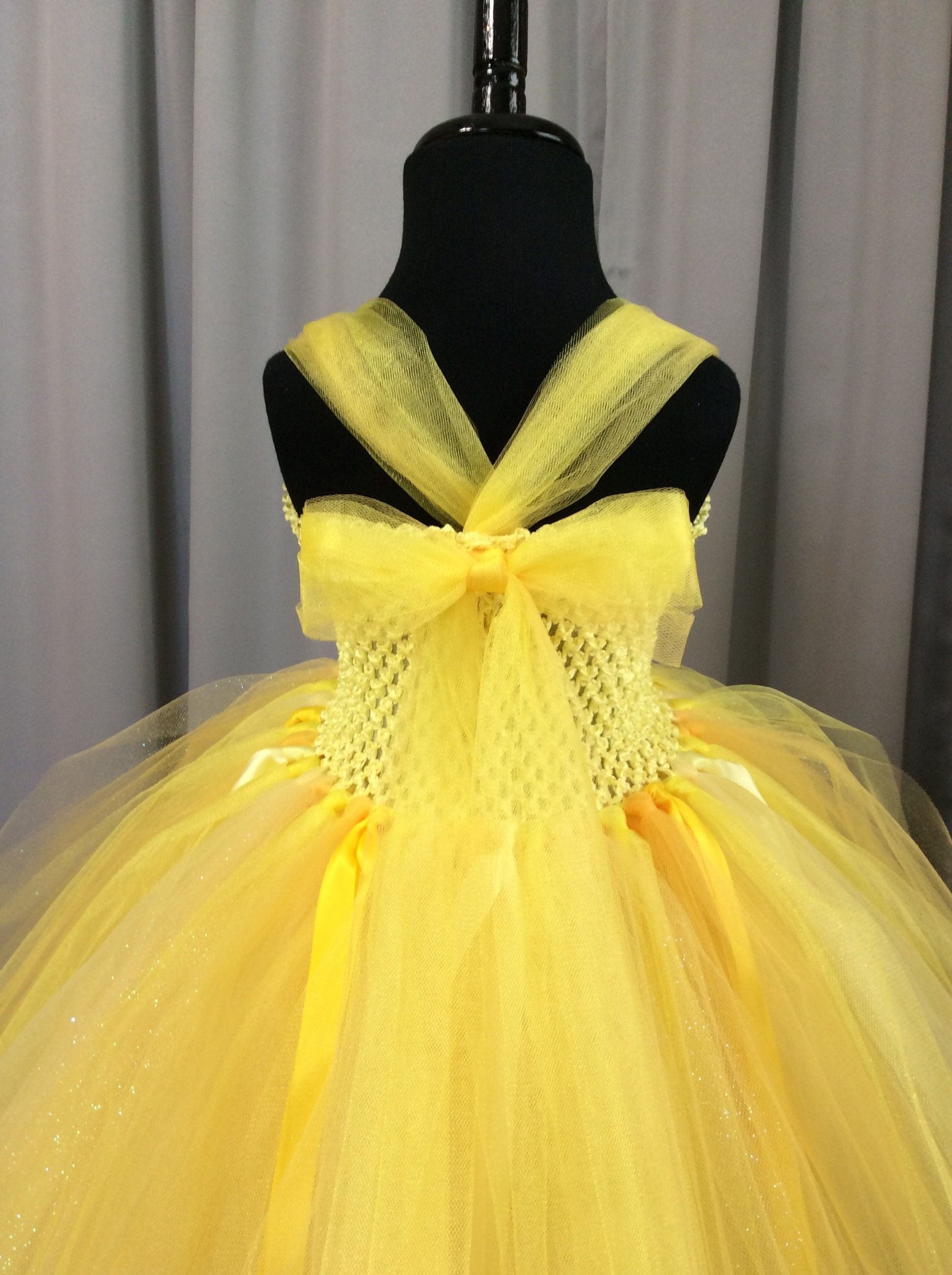 788ae38ee82 Yellow princess tutu dress