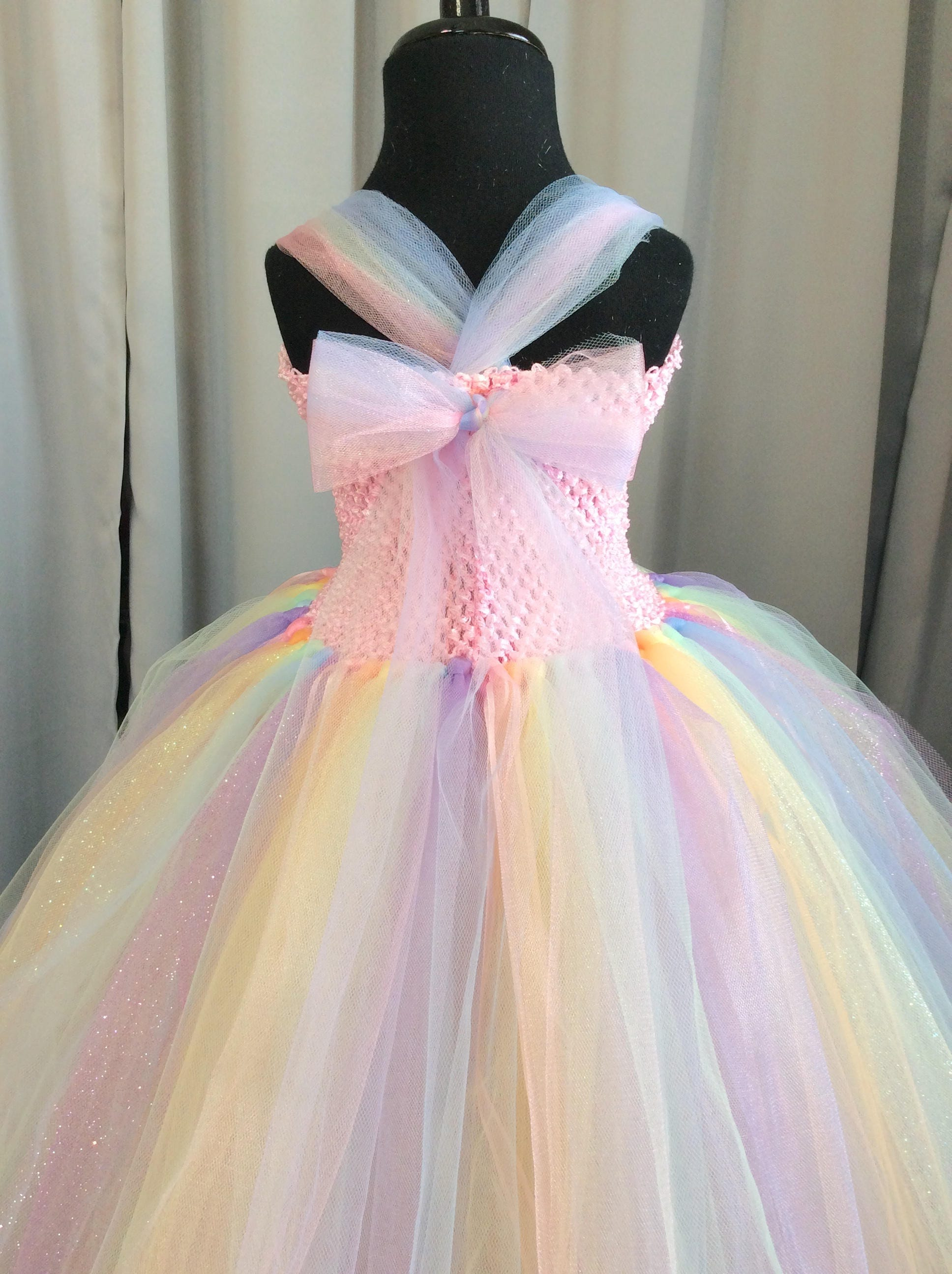 03b455ae87 Pastel rainbow princess tutu dress, tutu dress for girls, princess dresses  for girls, birthday dress, princess dress up, dresses for girls