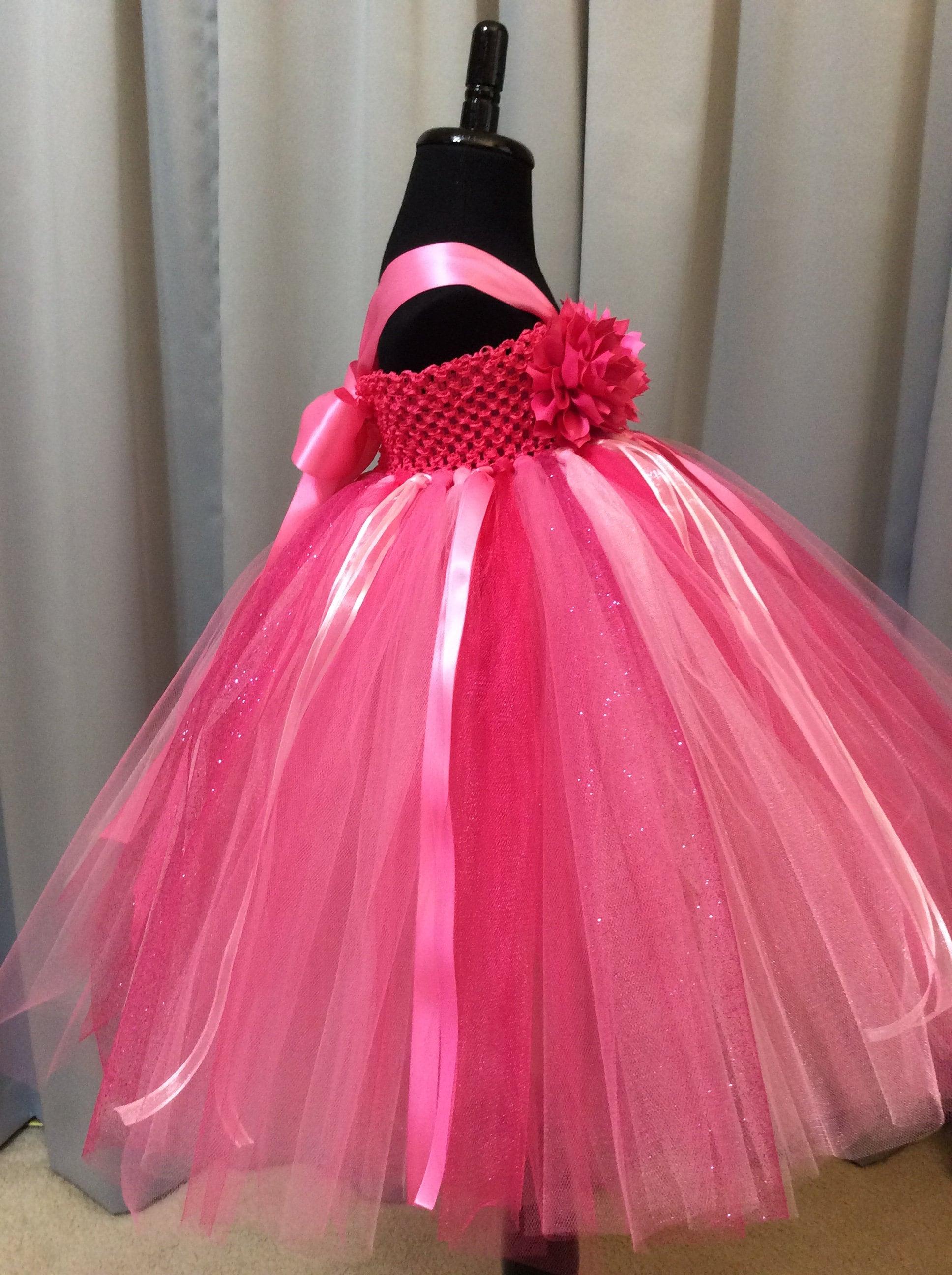 bb12836cf65 Fuchsia and pink flower girl dress