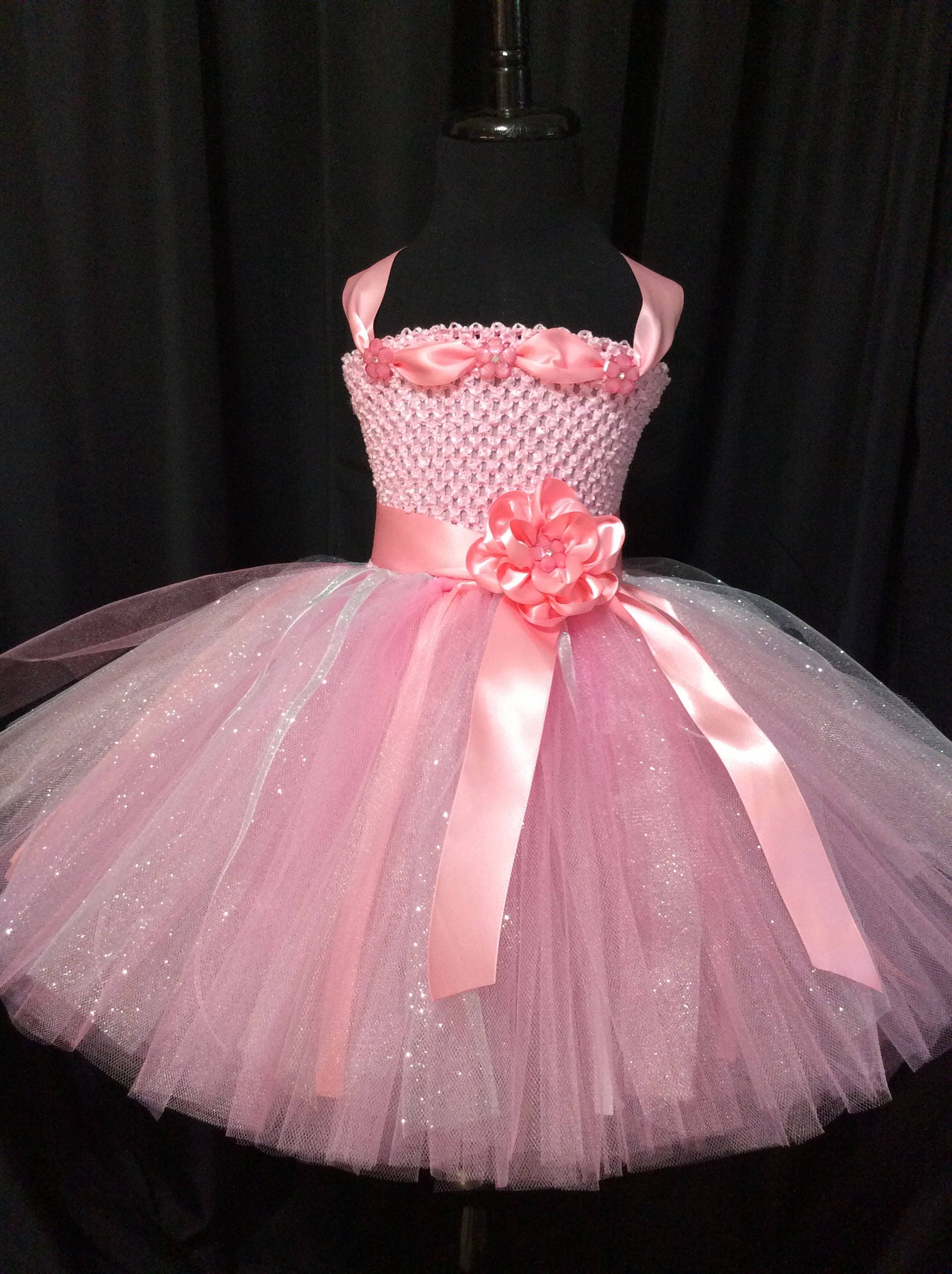 Pink and silver flower girl dress tulle flower girl dress tutu pink and silver flower girl dress tulle flower girl dress tutu dress for girls tutu flower girl dress wedding pink flower girl dress mightylinksfo