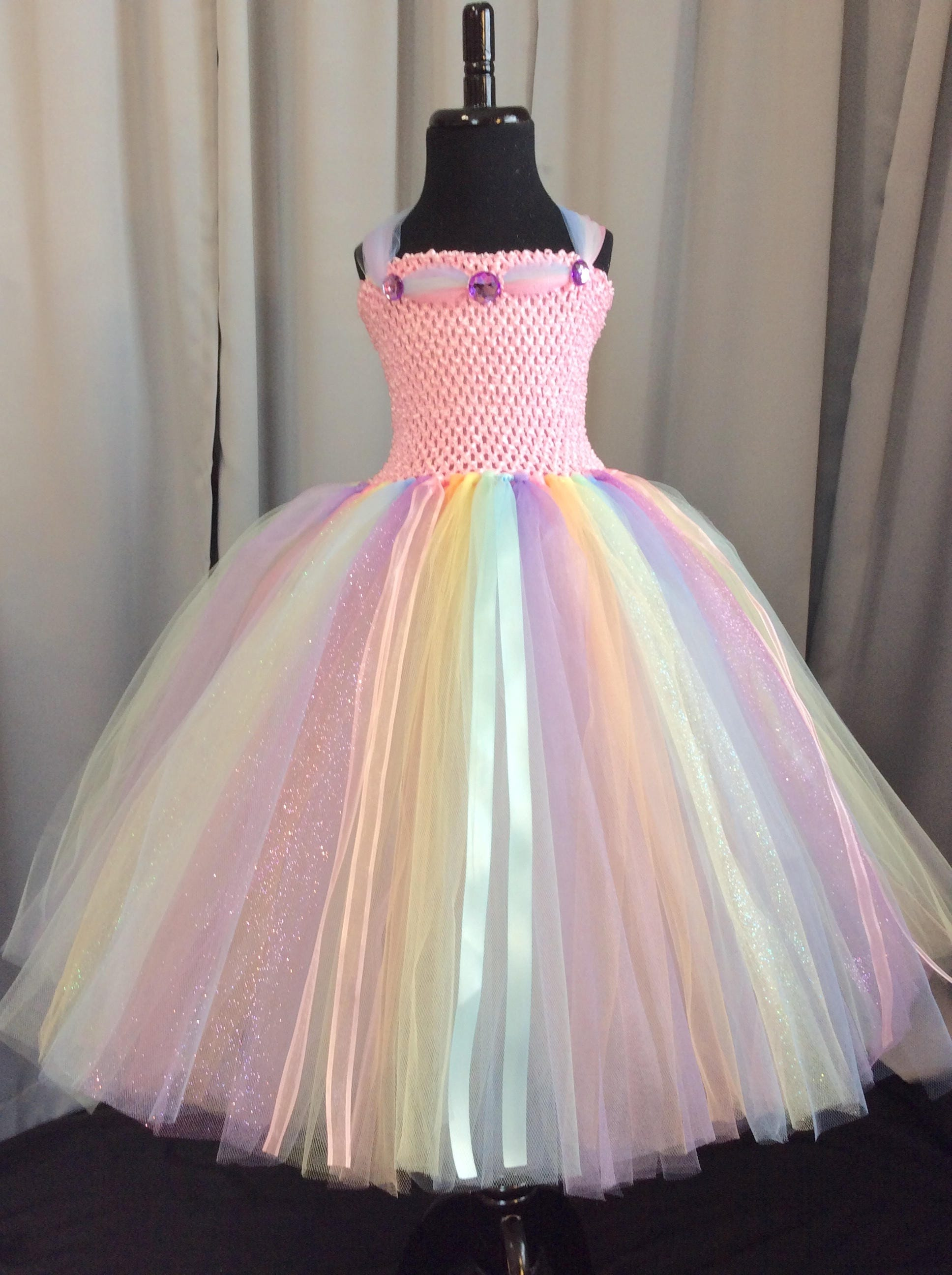 d923d7e523 Pastel rainbow princess tutu dress tutu dress for girls | Etsy