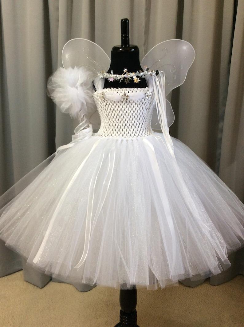 3fae32b32 White angel fairy princess costume princess tutu dress